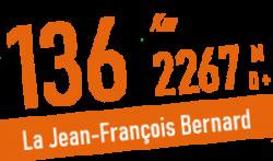 la jean-françois bernard parcours 136 km